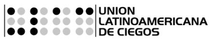 logo ULAC union latinoamericana de ciegos