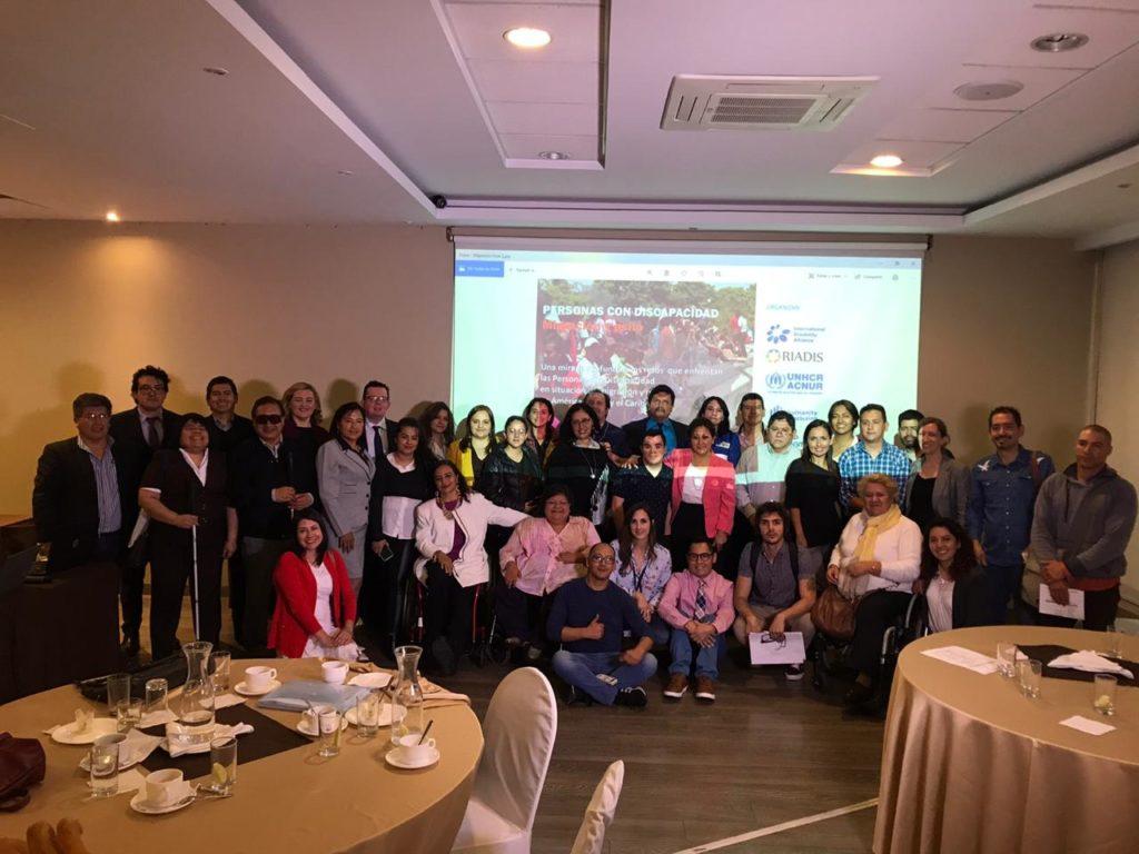 Fotografía de algunos de los participantes del encuentro