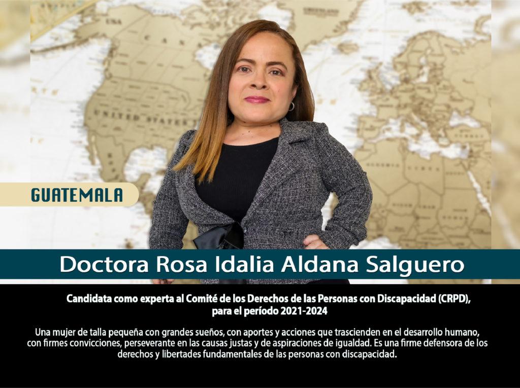 Foto de la Dra Rosa Idalia Aldana, candidata a expérta ante el Comite de Expertos de los Derechos de las Personas con Discapacidad
