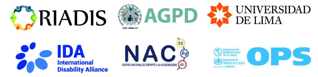 Logos de RIADIS, AGPD, Universidad de LIMA, IDA, NAC y OPS